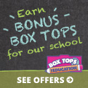 Boxtops and eBoxTops Website: online shopping to earn eBoxTops for your school.